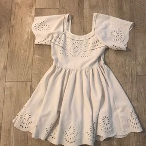 Urban Outfitters eyelet white dress